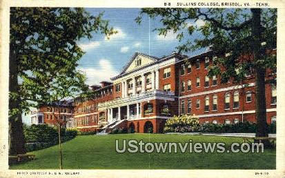 Sullings College  - Bristol, Virginia VA Postcard