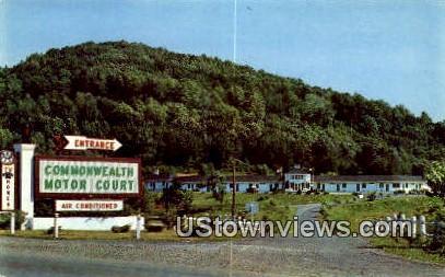 Commonwealth Motor Court  - Charlottesville, Virginia VA Postcard