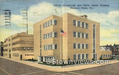 Courthouse, Public Saftey Building  - Newport News, Virginia VA Postcard