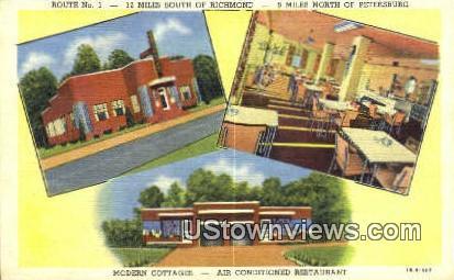 Modern Cottages - Richmond, Virginia VA Postcard