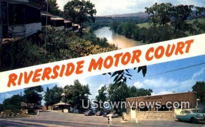 Riverside Motor Court  - Front Royal, Virginia VA Postcard