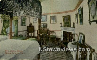 New Jersey Room - Mount Vernon, Virginia VA Postcard