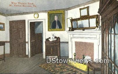 West Virginia Room  - Mount Vernon Postcard
