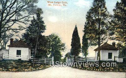 West Lodge Gate  - Mount Vernon, Virginia VA Postcard