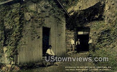 Entrance To Weyers Cave  - Grottoes, Virginia VA Postcard