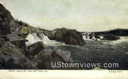 Great Falls - Potomac, Virginia VA Postcard
