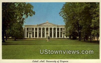 University Of Virginia Cabell Hall - Charlottesville Postcard