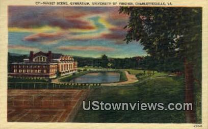 Gym University Of Virginia  - Charlottesville Postcard