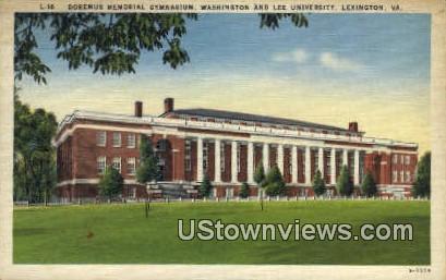 Dormeus Memorial Gym  - Lexington, Virginia VA Postcard