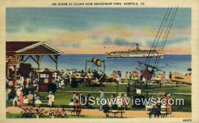 Amusement Park  - Norfolk, Virginia VA Postcard