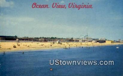 Ocean View, Virginia, VA, Postcard