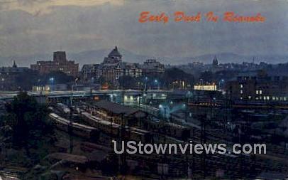 Early Dusk  - Roanoke, Virginia VA Postcard
