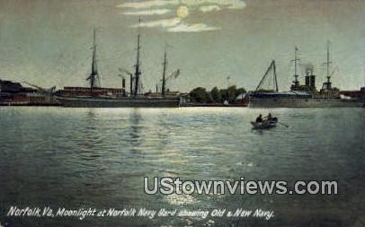 Navy Yard  - Norfolk, Virginia VA Postcard