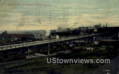 Marshall Street Viaduct  - Richmond, Virginia VA Postcard