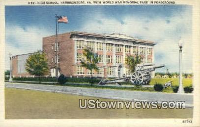 High School  - Harrisonburg, Virginia VA Postcard