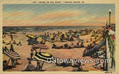 Beach  - Virginia Beach Postcards, Virginia VA Postcard