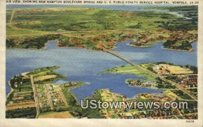 US Public Health Service Hospital  - Norfolk, Virginia VA Postcard
