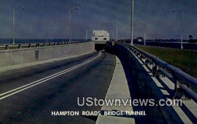 Hampton Roads Bridge Tunnel  - Virginia VA Postcard