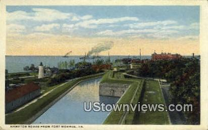 Hampton Roads Bridge Tunnel  - Fort Monroe, Virginia VA Postcard