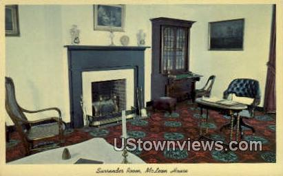 Surrender Room Mclean House  - Appomattox, Virginia VA Postcard
