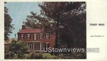 Stickley House  - Strasburg, Virginia VA Postcard