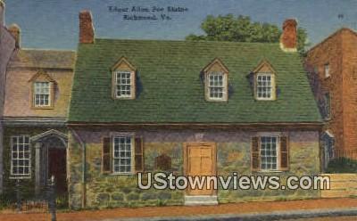 Edgar Allen Poe Shrine  - Richmond, Virginia VA Postcard