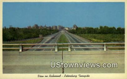 Petersburg Turnpike  - Richmond, Virginia VA Postcard