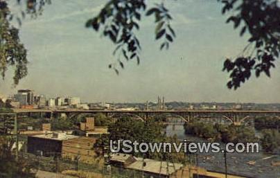 The James River And Lee Bridge  - Richmond, Virginia VA Postcard