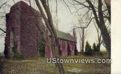 Church And Grave Yard At Jamestown  - Jamestown Island, Virginia VA Postcard
