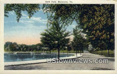 Byrd Park  - Richmond, Virginia VA Postcard