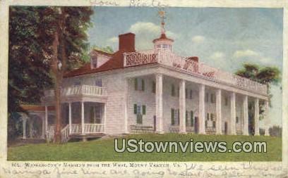 Washingtons Mansion West Front  - Mount Vernon, Virginia VA Postcard