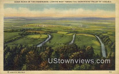 Seven Bends  - Shenandoah Valley, Virginia VA Postcard