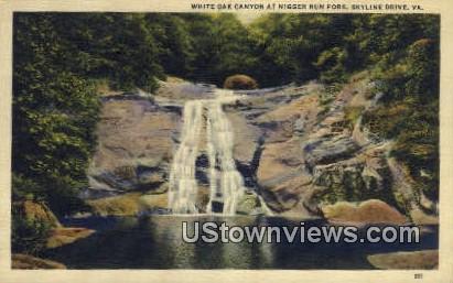 White Oak Canyon - Skyline Drive, Virginia VA Postcard