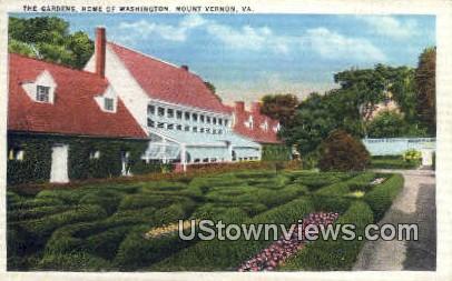 The Gardens Home of Washington  - Mount Vernon, Virginia VA Postcard