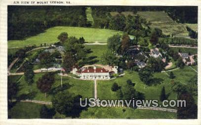 Mount Vernon, Virginia, VA, Postcard