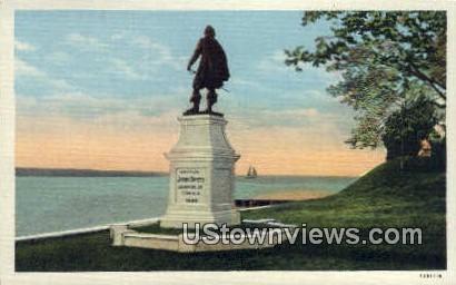 Captain John Smith monument  - Jamestown Island, Virginia VA Postcard