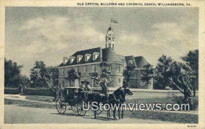 Old Capitol  - Williamsburg, Virginia VA Postcard