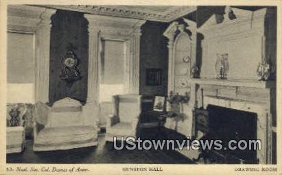 Gunston Hall Drawing Room  - Lorton, Virginia VA Postcard
