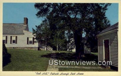 Burial Place, Patrick Henry  - Red Hill, Virginia VA Postcard