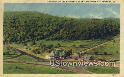 Crossing Of Lee Highway And Skyline  - Panorama, Virginia VA Postcard