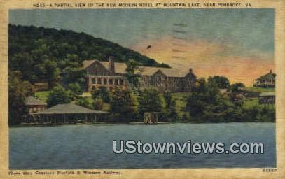 New Modern Hotel  At Mountain Lake  - Pembroke, Virginia VA Postcard