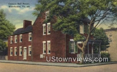 Cannon Bal House  - Winchester, Virginia VA Postcard