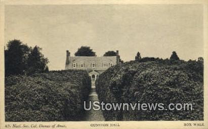 Gunston Hall Box Walk  - Lorton, Virginia VA Postcard