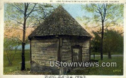 Lord Fairfax Smokehouse  - Greenway Court, Virginia VA Postcard