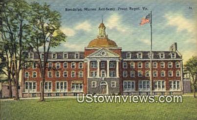 Randolph Macon Academy  - Front Royal, Virginia VA Postcard