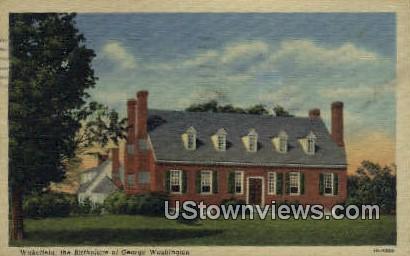 Birthplace Of George Washington - Wakefield, Virginia VA Postcard
