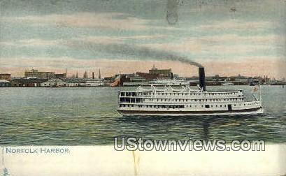 Harbor  - Norfolk, Virginia VA Postcard