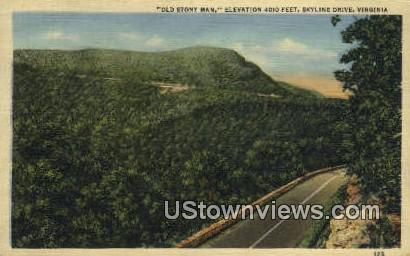 Old Stony Man  - Skyline Drive, Virginia VA Postcard