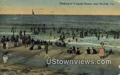 Bathing At Virginia Beach - Norfolk Postcard