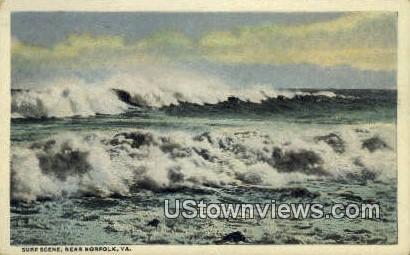 Surf  - Norfolk, Virginia VA Postcard